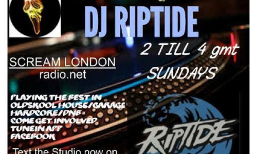 SUNDAY RIPTIDE with Riptide Sunday  from 14:00 till 16:00 every week.